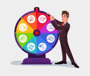 Setting Strategy by Spinning the Wheel of Fortune
